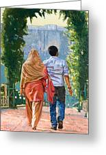 Couple Under The Leafy Arch Greeting Card