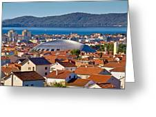 Coupola Sports Hall Landmark In Zadar Greeting Card
