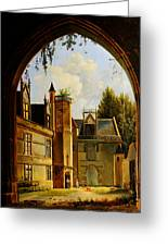Cour Hotel De Cluny Mnma Cl23879 Greeting Card