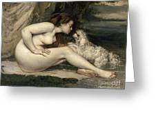 Courbet Nude Greeting Card
