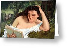 Courbet's A Young Woman Reading Greeting Card