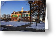 Court House In Winter Time Greeting Card