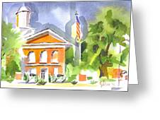 Courthouse Abstractions II Greeting Card