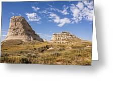 Courthouse And Jail Rocks - Bridgeport Nebraska Greeting Card