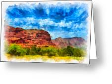 Courthouse Butte Sedona Arizona Greeting Card