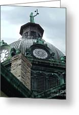 Courthouse Dome In Binghamton Ny Greeting Card