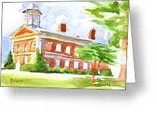 Courthouse In Summery Sun Greeting Card