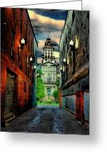 Courthouse Greeting Card by Tom Mc Nemar