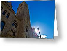 Courthouse Tower Greeting Card