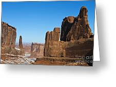 Courthouse Towers Arches National Park Utah Greeting Card