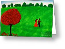 Courting Couple Greeting Card