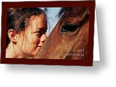A Portrait Of Courtney And Annie Greeting Card