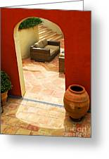 Courtyard Of A Villa Greeting Card