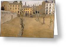 Courtyard Of The Old Barcelona Prison. Courtyard Of The Lambs Greeting Card