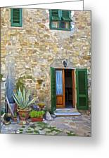 Courtyard Of Tuscany Greeting Card