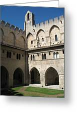 Courtyard - Palace Avignon Greeting Card