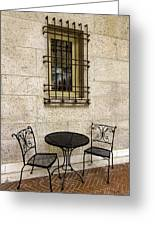 Courtyard Seating For Two Greeting Card