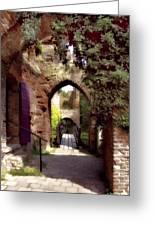 Courtyard Shadows Greeting Card