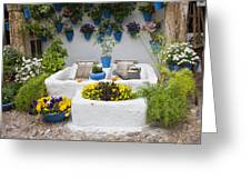 Courtyard With Washing Boards Greeting Card