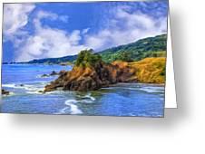 Cove On The Oregon Coast Greeting Card