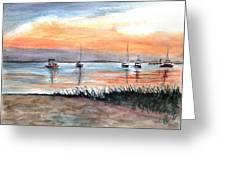 Cove Sunrise Greeting Card