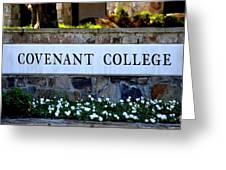 Covenant College Sign Greeting Card