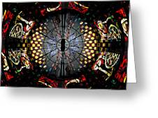 Coventry Cathedral Windows Montage Greeting Card