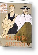 Cover Of Harpers Magazine, 1896 Greeting Card