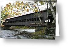 Covered Bridge Albany Greeting Card