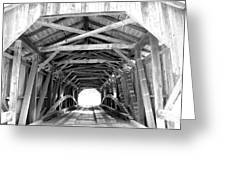 Covered Bridge Architecture Greeting Card