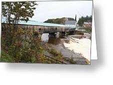Covered Bridge  Bath Greeting Card