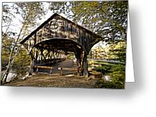 Covered Bridge Greeting Card