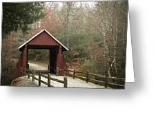 Covered Bridge Greeting Card by Cindy Rubin
