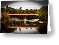 Covered Bridge Conway New Hampshire Greeting Card