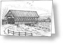 Covered Bridge Coventry Vermont Greeting Card