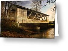 Covered Bridge Greeting Card