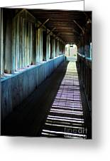 Covered Bridge Greeting Card by Eva Kato