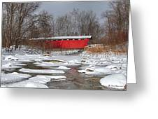 covered bridge Everett rd. Greeting Card