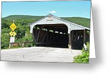 Covered Bridge For Pedestrians Greeting Card