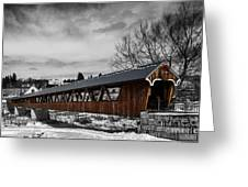 Covered Bridge Littleton New Hampshire 3 Greeting Card
