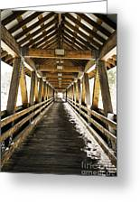 Covered Bridge Littleton New Hampshire Greeting Card