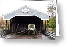 Covered Bridge North Conway Sacco River Greeting Card