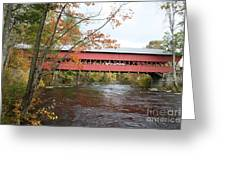 Covered Bridge Over Swift River Greeting Card