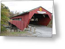 Covered Bridge Taftsville Greeting Card