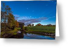 Covered Bridge Under A Vermont Sky Greeting Card