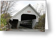 Covered Bridge - Woodstock Greeting Card