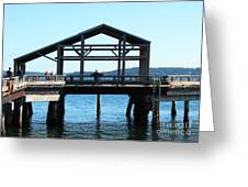 Covered Pier At Port Townsend Greeting Card