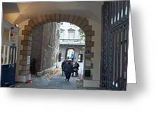 Covered Walkway Of London Greeting Card