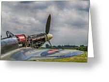 Covers Off Hawker Hurricane Greeting Card