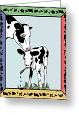 Cow Artist Cow Art Greeting Card